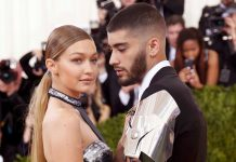"La modelo Gigi Hadid y el cantante Zayn Malik llegan a la Gala del Instituto de Vestuario del Museo Metropolitano de Arte (Met Gala) para celebrar la inauguración de ""Manus x Machina: Fashion in an Age of Technology"" en el distrito de Manhattan de Nueva York, el 2 de mayo, 2016. Imagen, Grosby Group."